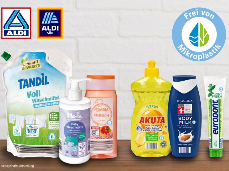 ALDI verzichtet auf Mikroplastik