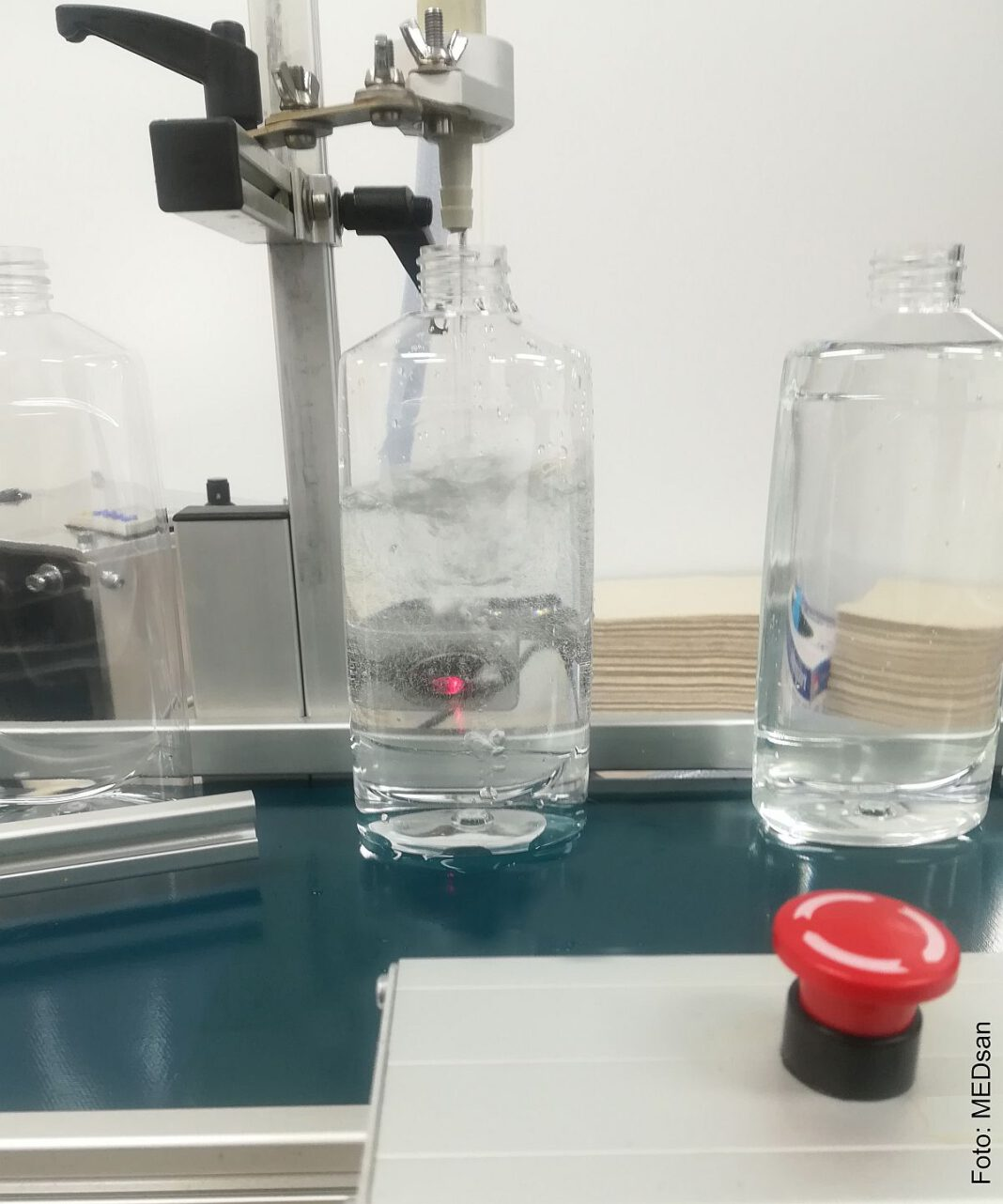 Produktion der sanaSEP Desinfektionslösung wird angekurbelt.